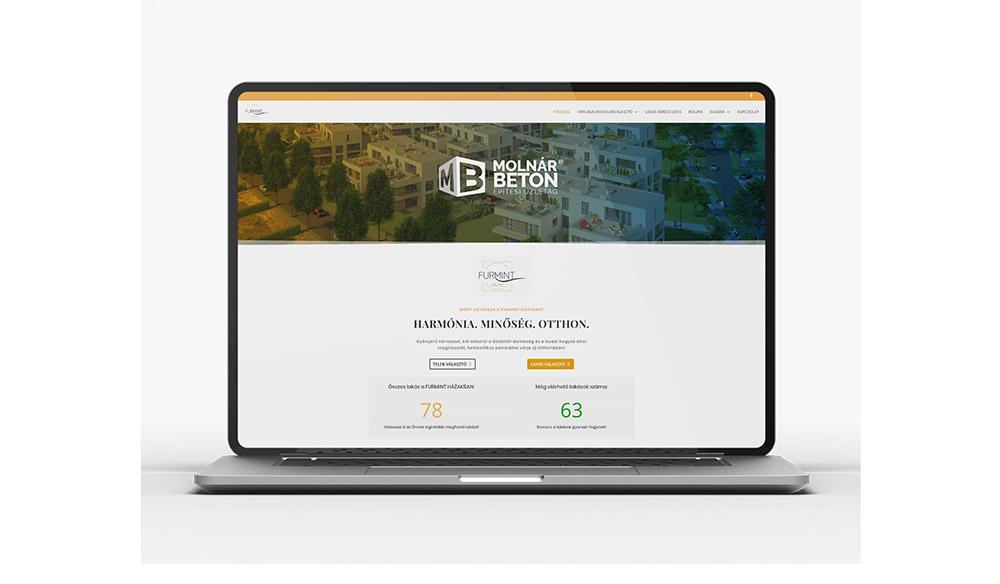 Furmint házak weboldal